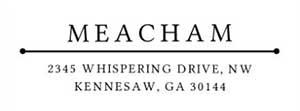 Meacham Rectangular Address Stamp