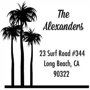 Alexander Wood Mounted Address Stamp