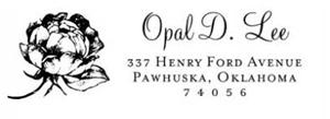Opal Rectangular Address Stamp