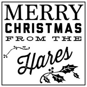 Hares Holiday Stamp
