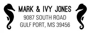 Ivy Rectangular Address Stamp