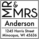 Picture of Anderson Wood Mounted Address Stamp