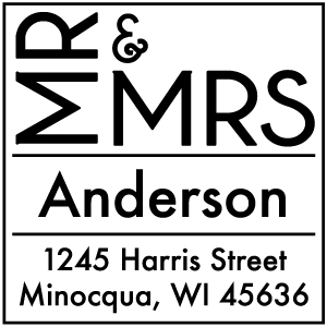 Anderson Wood Mounted Wedding Stamp