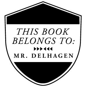 Delhagen Wood Mounted Library Stamp
