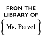 Perzel Wood Mounted Library Stamp