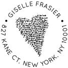 Picture of Giselle Wood Mounted Address Stamp