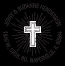 Beaming Cross Wood Mounted Inspirational Stamp