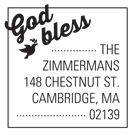 God Bless Wood Mounted Inspirational Stamp