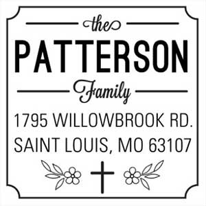 Patterson Wood Mounted Inspirational Stamp