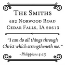 Philippians Wood Mounted Inspirational Stamp