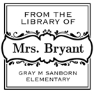 Picture of Bryant Wood Mounted Teacher Stamp