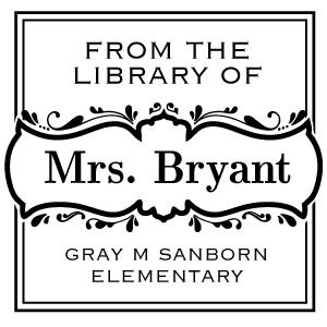 Bryant Wood Mounted Teacher Stamp