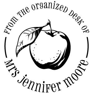 Moore Wood Mounted Teacher Stamp