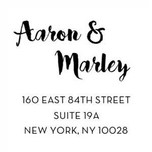 Aaron Wood Mounted Address Stamp