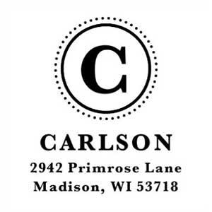 Carlson Wood Mounted Address Stamp