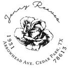 Picture of Jenny Wood Mounted Address Stamp