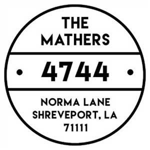 Mathers Wood Mounted Address Stamp