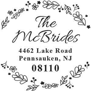 McBride Wood Mounted Address Stamp