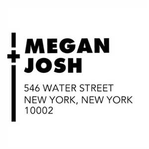 Megan Wood Mounted Address Stamp