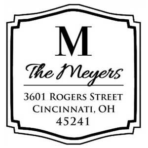 Meyers Wood Mounted Address Stamp