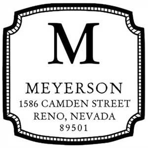 Meyerson Wood Mounted Address Stamp