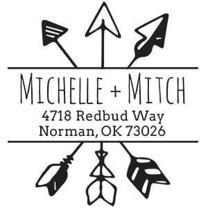 Michelle Wood Mounted Address Stamp