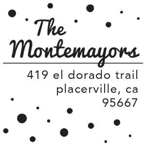 Montemayor Wood Mounted Address Stamp