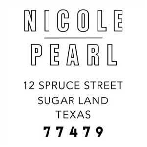 Nicole Wood Mounted Address Stamp