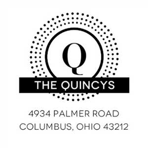 Quincy Wood Mounted Address Stamp