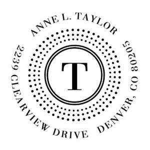 Taylor Wood Mounted Address Stamp