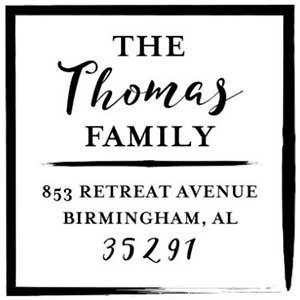 Thomas Wood Mounted Address Stamp