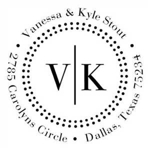 Vanessa Wood Mounted Address Stamp