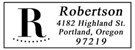 Picture of Robertson Rectangular Address Stamp