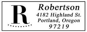 Robertson Rectangular Address Stamp