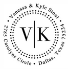 Vanessa Address Stamp