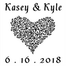 Picture of Kasey Wood Mounted Wedding Stamp