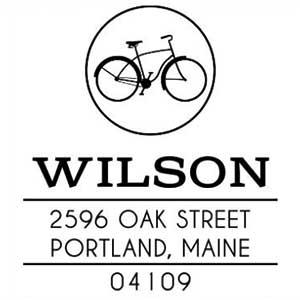Wilson Wood Mounted Address Stamp
