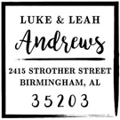 Andrews Wood Mounted Address Stamp