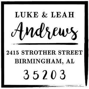 Andrews Wood Mounted Address Stamp