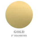 "Picture of 2"" Round Gold Embossing Seals"