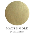 "Picture of 2"" Round Matte Gold Embossing Seals"