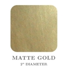 "Picture of 2"" Square Matte Gold Embossing Seals"