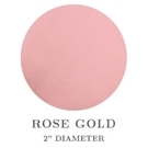 "2"" Round Rose Gold Foil Embossing Seals"