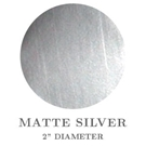 "Picture of 2"" Round Matte Silver Embossing Seals"