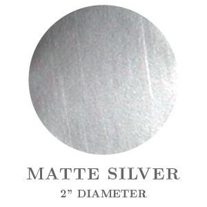 "2"" Round Matte Silver Embossing Seals"