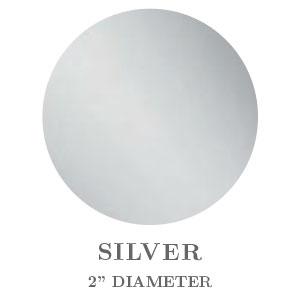 "2"" Round Silver Foil Seals"
