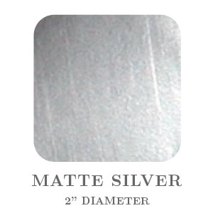 "2"" Square Matte Silver Embossing Seals"