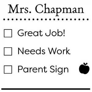 Chapman Teacher Stamp