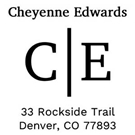 Picture of Cheyenne Address Stamp