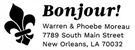 Picture of Bonjour Rectangular Address Stamp